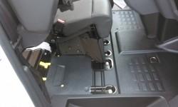 Fleksible sæder i kabinen giver flere muligheder. Lækkert at passagersædets siddehynde forsvinder højt til vejrs når den løftes, det giver masser af regulær gulvplads.