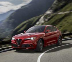 Stelvio er Alfa Romeos første SUV. Stelvio er mnellemstørrelse, syv centimeter længere end Toyota RAV4, men væsentligt bedre udrustet. Topmodellen har 2,9 liters V6 med 510 HK.